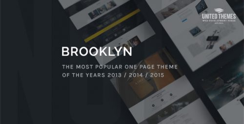 Brooklyn, a truly multipurpose WordPress theme with more than one face. No matter if you use it as a photographer, travel / web design agency, restaurant, wedding planer, lawyer, dentist, barber, building company, nonprofit / environmental organization or even as a music / video producer. You can easily turn it into your personal website.