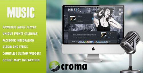 Musicians theme & Facebook app