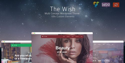 Wish is a responsive multi-purpose WordPress theme that comes with 110+ custom visual composer elements that lets you build any layout you could imagine. Wish comes bundled with Visual Composer and Slider Revolution, it is translation ready, supports WooCommerce with tons of customization. Wish has very powerful blog with over 50 customizations.